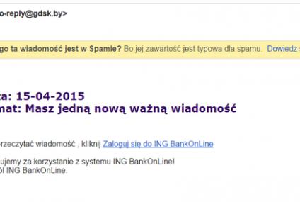 Atak phishingowy na klientów ING Banku Śląskiego
