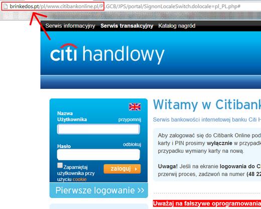 Uwaga! Próba wyłudzenia danych od klientów Citi Handlowego - PRNews pl