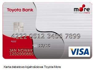 Nowe karty płatniczo-lojalnościowe Toyota More