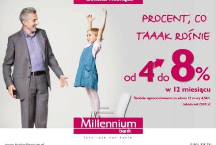 Kampania reklamowa Lokaty Rosnącej w Banku Millennium