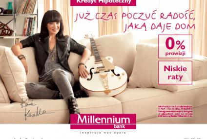 Kasia Kowalska w kampanii reklamowej kredytów hipotecznych Banku Millennium
