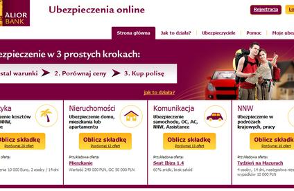 Alior - kolejny bank z ofertą ubezpieczeń online
