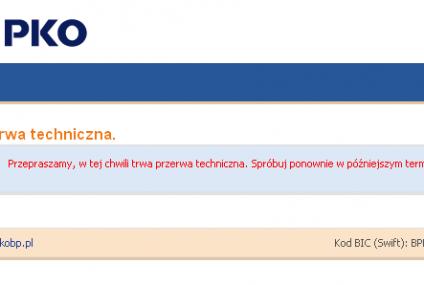 Klienci iPKO bez dostępu do bankowości elektronicznej