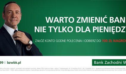 Kevin Spacey wystąpi w reklamach BZ WBK
