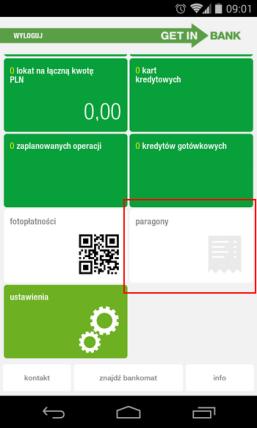 Kopie Paragonów Możesz Trzymać W Aplikacji Mobilnej Getin Banku