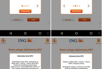 ING Bank udostępnił klientom mobilne płatności NFC