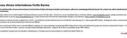 Fortis Bank po cichu zmienił się w BNP Paribas Fortis