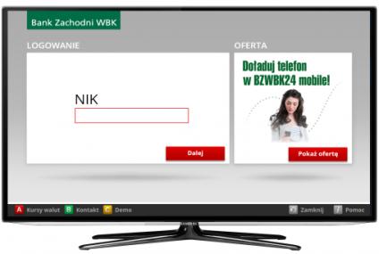 """BZWBK wprowadza """"bankowanie"""" przez telewizor"""