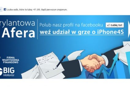 """Brylantowa Afera"" – rusza nowa gra BIG InfoMonitor na Facebooku"