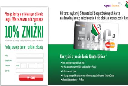 Open Finance kusi kibiców Legii: 200 zł na bilety