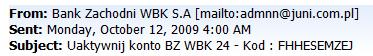 BZ WBK znowu na celowniku cyberprzestępców