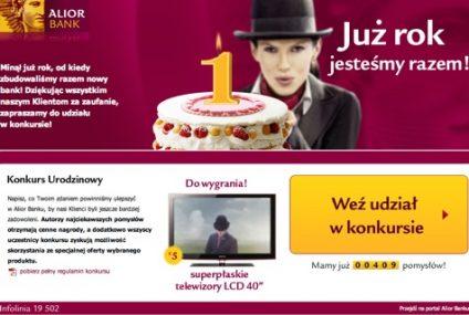 Nowy, rocznicowy konkurs internetowy Alior Banku