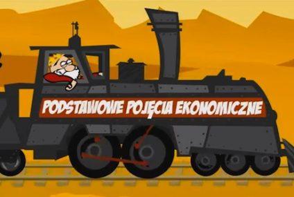 Animowani bohaterowie opowiadają o zjawiskach gospodarczych