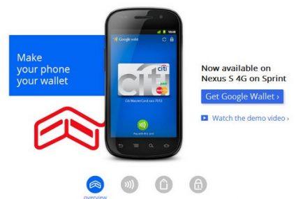 Google startuje z mobilnym portfelem