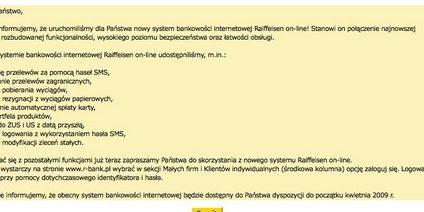 Nowe strony Raiffeisen Banku i Dominet Banku