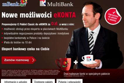 mBank wprowadza pakiety do kont i pełną obsługę w placówkach