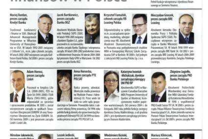 Prezes Banku BPS wśród 25 top menadżerów Gazety Finansowej