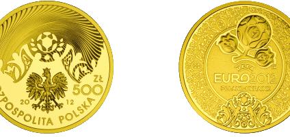 Piłkarze i polskie stadiony na monetach NBP