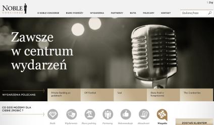 Nowa odsłona strony internetowej Noble Concierge
