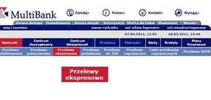 Przelew ekspresowy także w MultiBanku