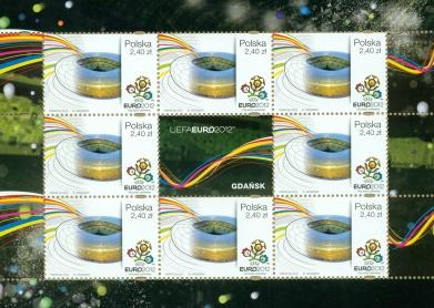 Poczta Polska wydała znaczki ze stadionami Euro 2012