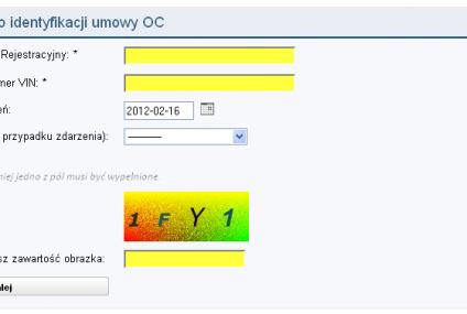 Każdy może sprawdzić OC na www.ufg.pl