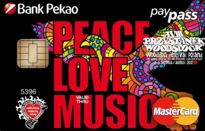 Woodstockowicze z własną kartą prepaidową od Banku Pekao