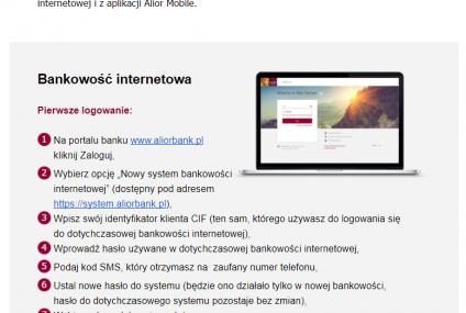 """Linki do systemu transakcyjnego w e-mailu od Aliora. """"To wina programu pocztowego"""""""