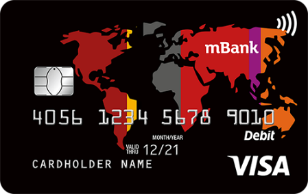 mBank Visa Aquarius Świat