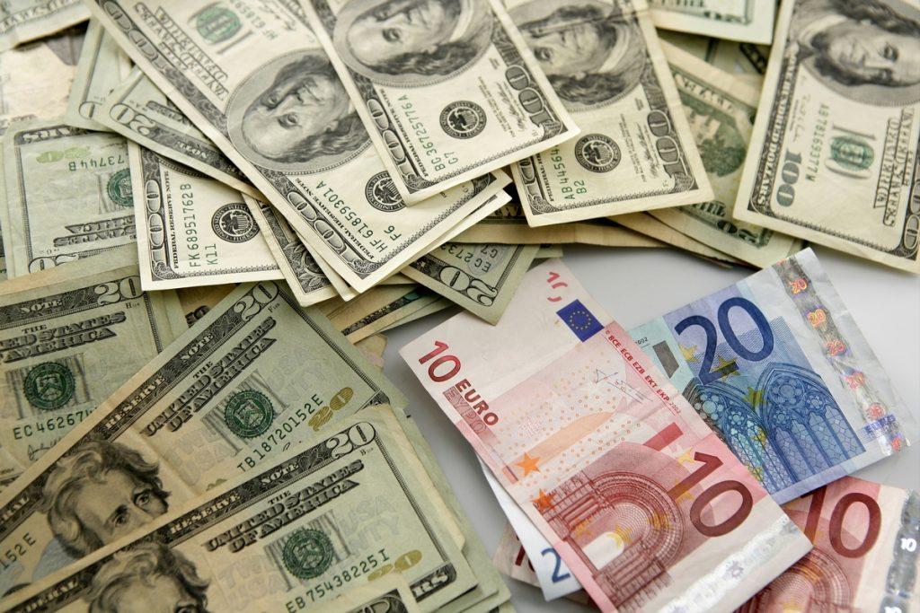waluta, dolar, euro