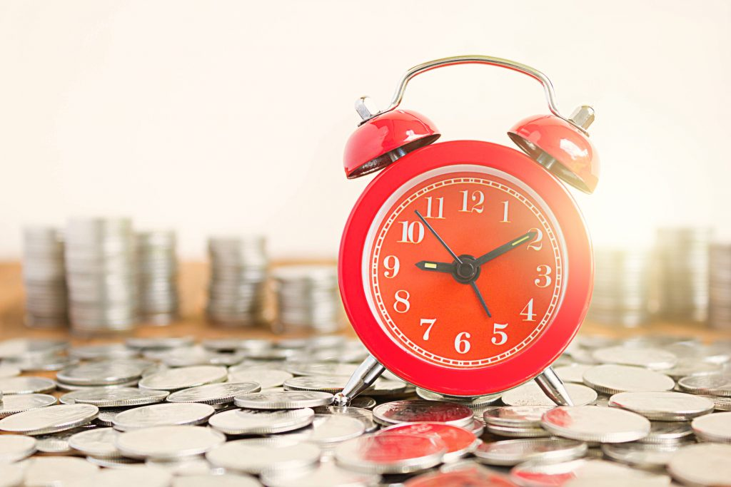 pieniądze, zegar, oszczędzanie