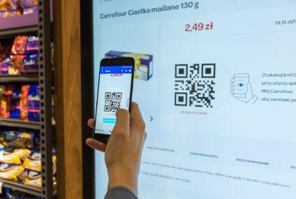 Carrefour uruchomił zdigitalizowany supermarket. Można zamawiać towary mobilnie i płacić Masterpassem