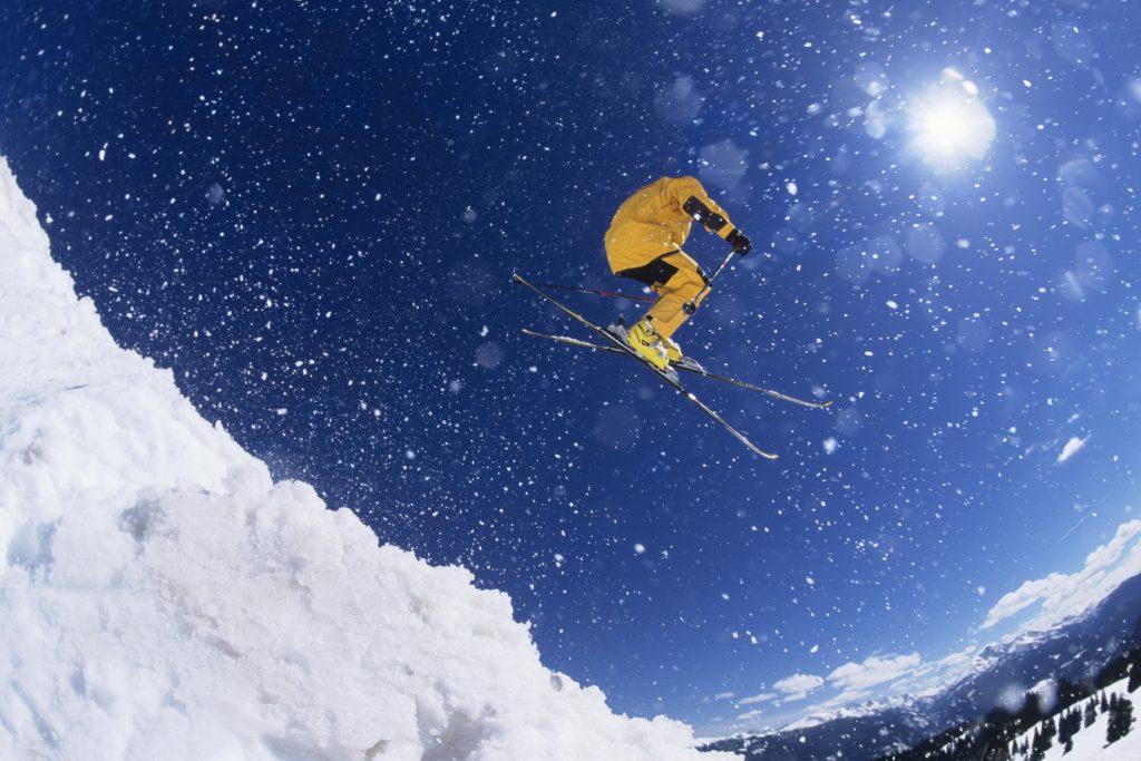 narciarz, narty