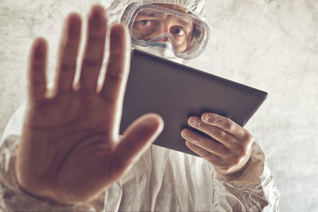naukowiec, tablet