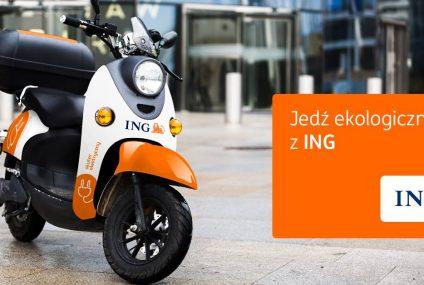 ING Bank Śląski udostępnia skutery elektryczne na minuty