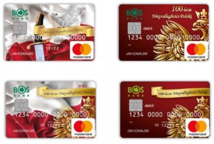 Karty płatnicze na 100-lecie Odzyskania Niepodległości od BOŚ