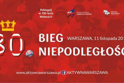 """30. Bieg Niepodległości w Warszawie. Biegacze utworzą największą """"żywą"""" flagę"""