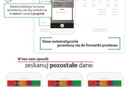 Nowość w aplikacji mBanku: proste skanowanie danych do przelewu