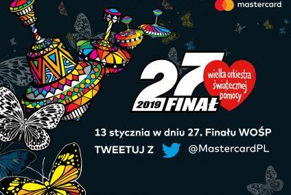 Za tweet z hasztagiem #MastercardGrazWOSP firma przekaże na rzecz WOŚP 5 zł. Oto szczegóły akcji
