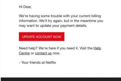 Podszywają się pod Netflix i wyłudzają dane osobowe