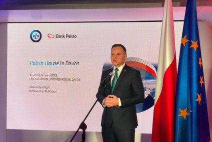 Prezydent RP otworzył Dom Polski Banku Pekao i PZU w Davos