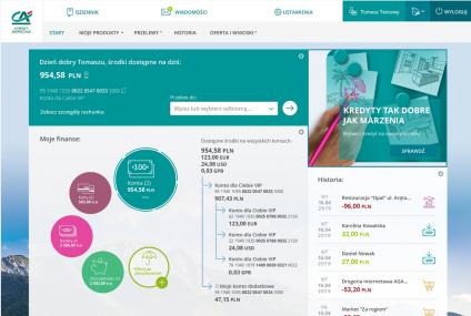 Credit Agricole rozpoczyna testy nowej bankowości internetowej. Zobaczcie przedpremierowo jak wygląda nowe CA24