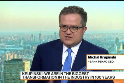 Michał Krupiński w Bloomberg TV: europejski sektor bankowy potrzebuje zmian i cyfrowej transformacji