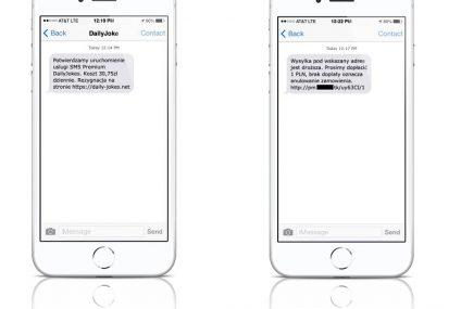 Wejdź na link z SMS-a, aby zrezygnować z płatnej subskrypcji. To nowe oszustwo, przed którym ostrzega Alior Bank