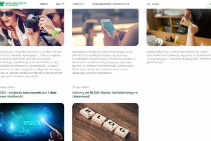 Bank Spółdzielczy w Limanowej uruchomił blog