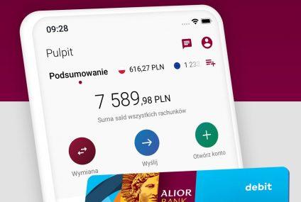 Alior Bank udostępnił nową aplikację mobilną Kantoru Walutowego