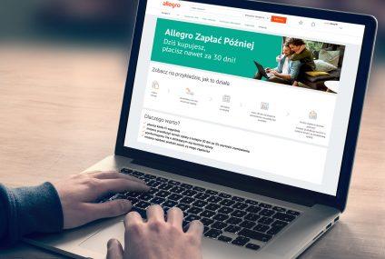 Allegro we współpracy z fintechem PayPo udostępniło usługę Zapłać Później