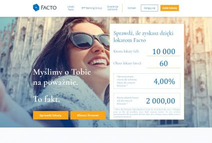 BFF Banking Group wprowadza na rynek Facto - lokatę terminową dostępną on-line