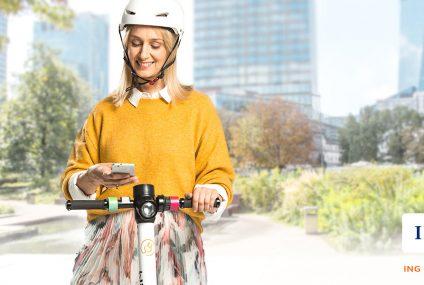 30 minut bezpłatnej jazdy pojazdami elektrycznymi blinkee.city dla klientów ING