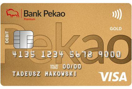 Karta Visa Gold do konta dla wszystkich w Banku Pekao
